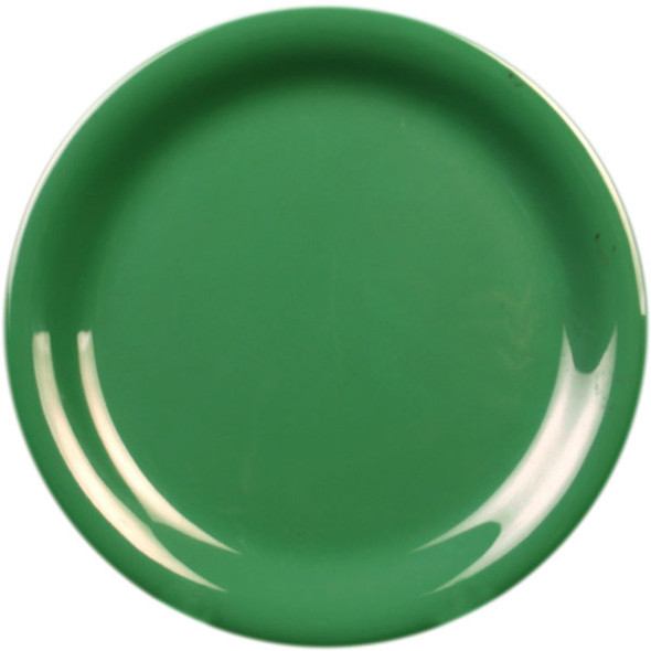 "10.5"" Narrow Rim Melamine Green Plate (CR110GR)"