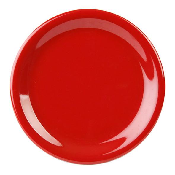 """10.5"""" Narrow Rim Melamine Pure Red Plate (CR110PR)"""