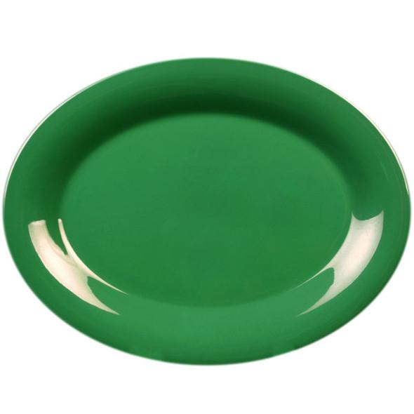 """13.5"""" Wide Rim Melamine Green Platter (CR213GR)"""