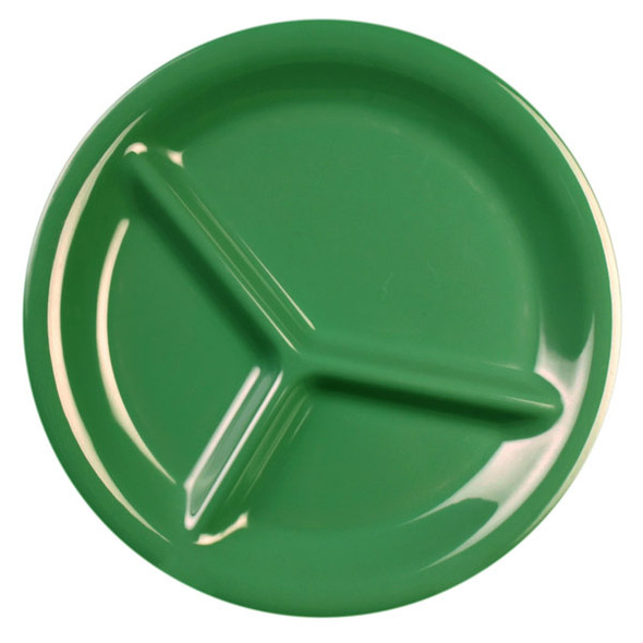 Thunder Group 3-Compartment Melamine Color Green Plate (CR710GR)