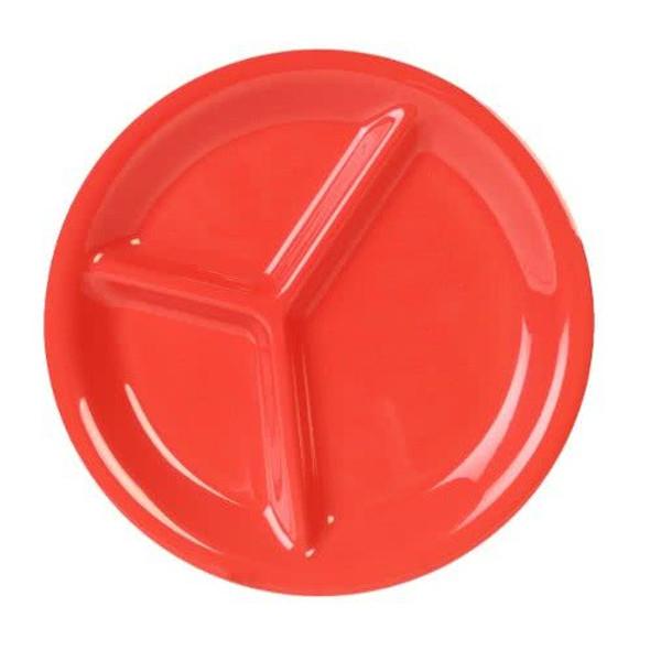 Thunder Group 3-Compartment Melamine Color Orange Plate (CR710RD)