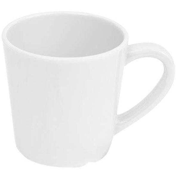 Thunder Group White 7 oz Melamine Color Coffee Mug (CR9018W)