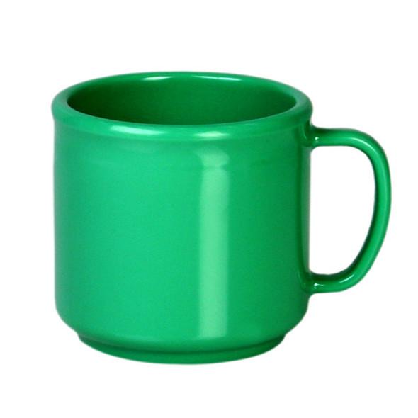 10 oz Melamine Green Coffee Mug (CR9035GR)