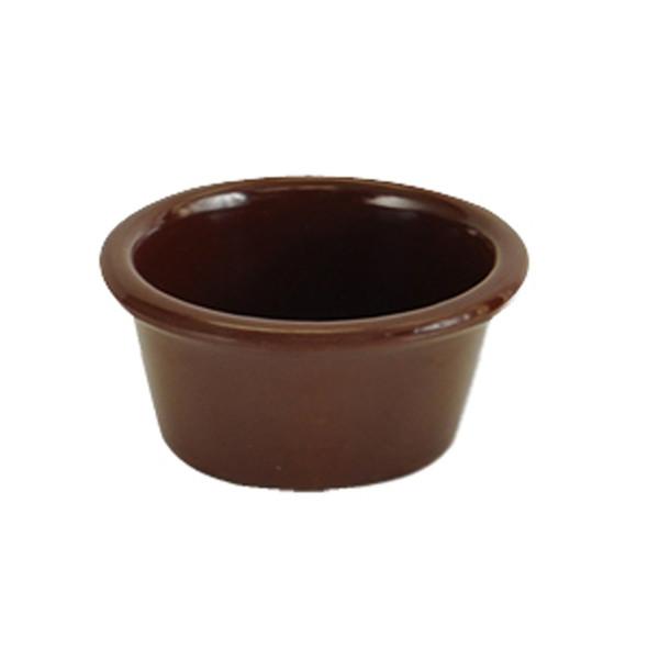 Thunder Group ML535C1 1.75 oz. Chocolate Smooth Melamine Ramekin