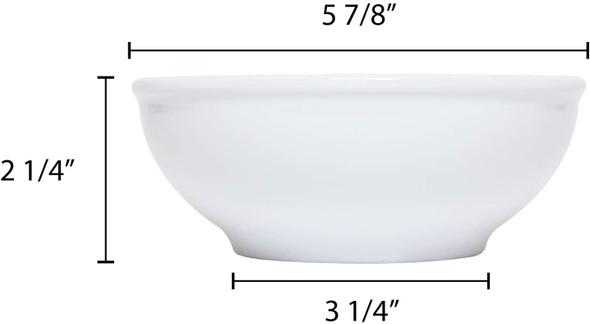 Thunder Group PH5005TW 19 oz. Imperial White Melamine Pho Noodle Bowl