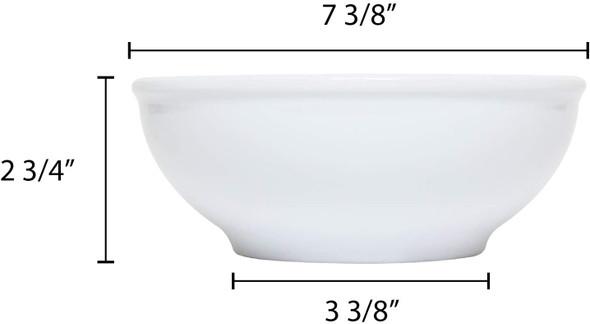 Thunder Group PH5007TW 38 oz. Imperial White Melamine Pho Noodle Bowl
