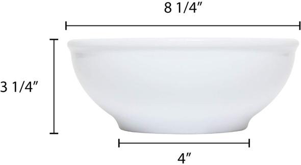 Thunder Group PH5008TW 58 oz. Imperial White Melamine Pho Noodle Bowl