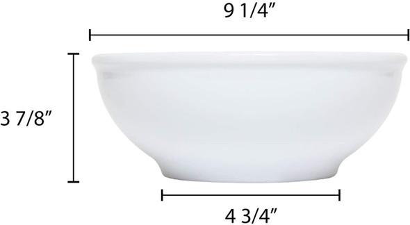 Thunder Group PH5010TW 88 oz. Imperial White Melamine Pho Noodle Bowl