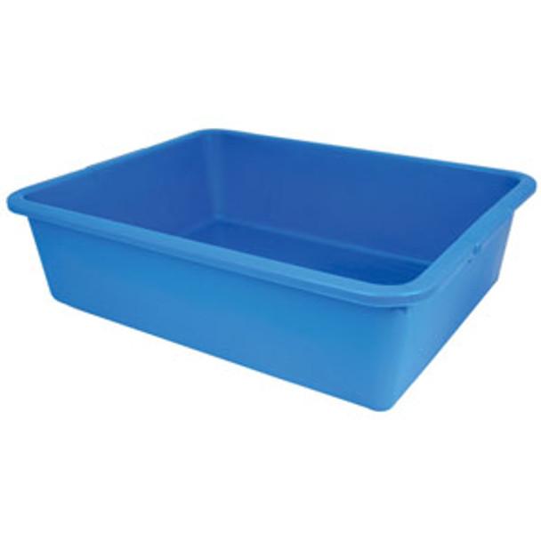 Durable Polyethylene Plastic Bus Tub - BLUE