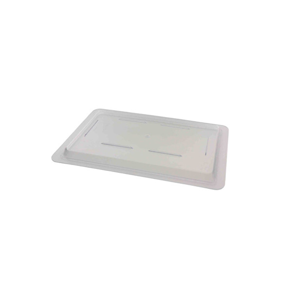 "12"" x 18"" Clear Polycarbonate Food Storage Box Lid"