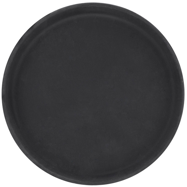 Round Fiberglass Non-Skid Serving Tray - Black