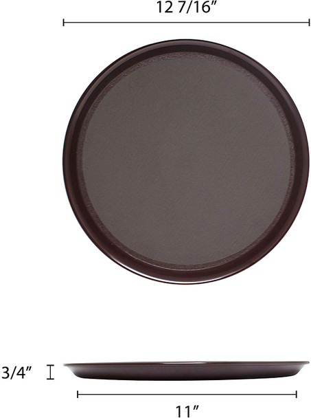 "12"" Round Slip Resistant Serving Tray (PLRT012)"