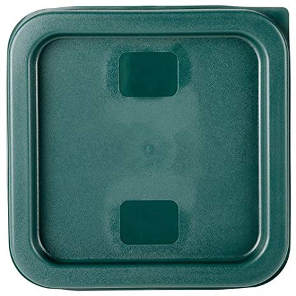 Square Polyethylene Food Storage Container Lid - Green, Fits 2 & 4 QT (PLSFT0204C)