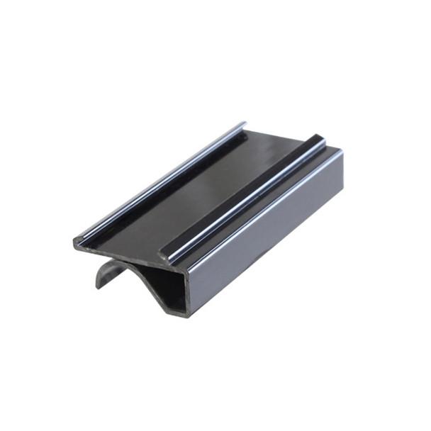 "3"" Snap-Under Wire Shelf Label Holder - 4/Pack (PLSL113BK)"