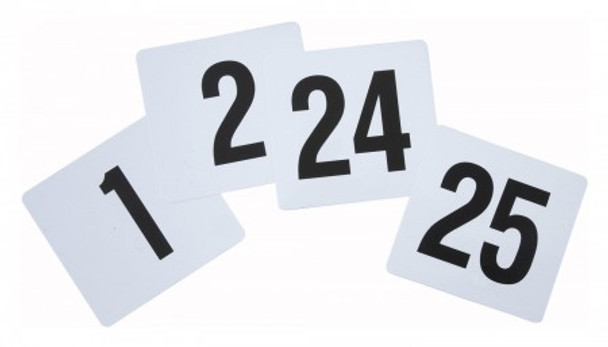 "Thunder Group PLN4025 4"" x 4"" Plastic Table Number 1-25 Cards"