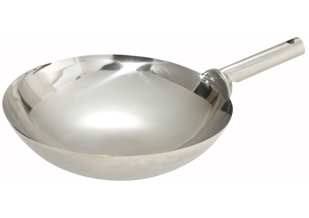 Hammered Stainless Steel POW Wok