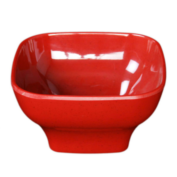 """Thunder Group PS3105RD 5.5"""" x 5.5"""" Passion Red 20 oz. Melamine Bowl with Round Edges"""