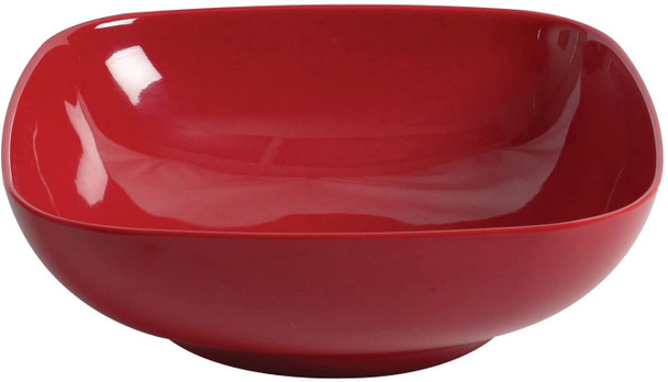 """Thunder Group Passion Red, 11"""" Square 4 Qt. Melamine Bowl with Round Edges (PS3111RD)"""