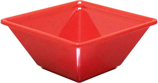"Passion Red, 10"" x 10"" Square 80 oz Melamine Bowl (PS5010RD)"