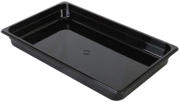 "Thunder Group PLPA8002BK, Full Size Black Polycarbonate Food Pan - 2.5"" Deep"