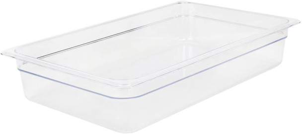 """Thunder Group PLPA8004, Full Size Clear Polycarbonate Food Pan - 4"""" Deep"""