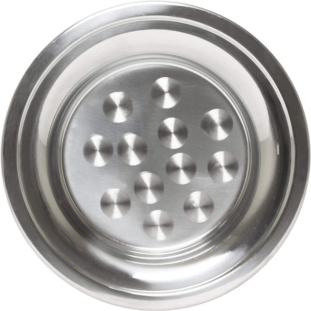 "18"" Round Stainless Steel Swirl Pattern Serving Tray (SLCT018)"