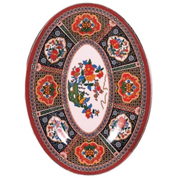 """Peacock, 14"""" x 10"""" Oval Melamine Platter"""