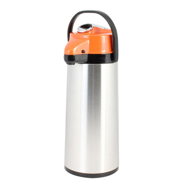 Lever Top Glass Lined Stainless Steel Airpot