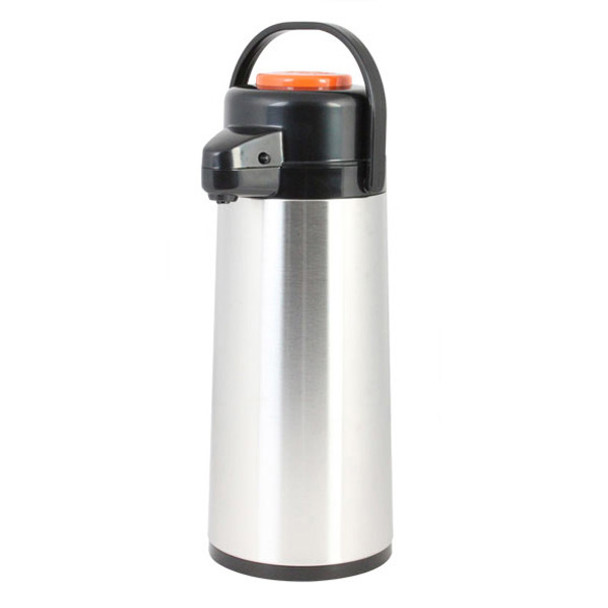 Push Button Top Glass Lined Stainless Steel Airpot