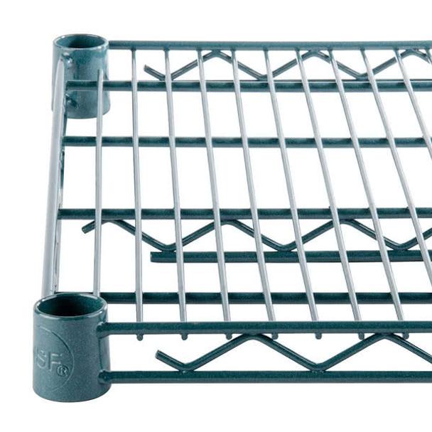 21 Inch Deep Epoxy Coated Wire Shelf