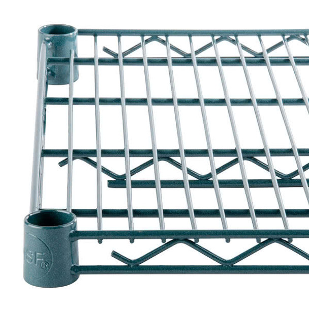 24 Inch Deep Epoxy Coated Wire Shelf