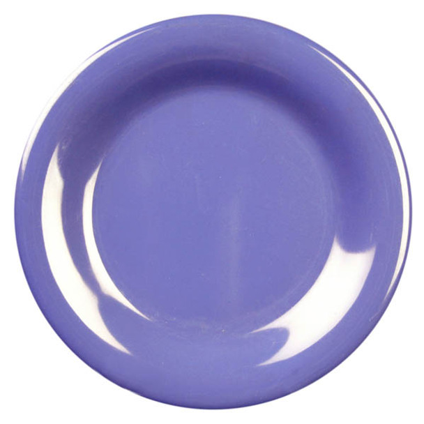 "5.5"" Wide Rim Melamine Color Plate"
