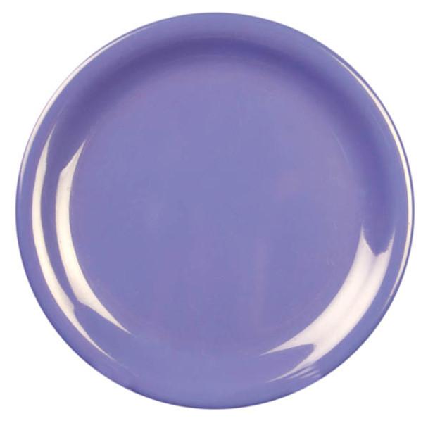 "9"" Narrow Rim Melamine Purple Plate (CR109BU)"