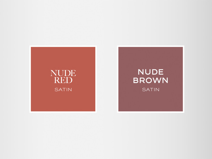 The Brown Nudes - Red Lipstick Set