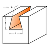 "Dovetail Router Bit 3/8"" x 3/8"" x 14° - Solid Carbide"