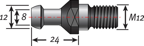 ISO30 Pull Stud | HSD Spindles
