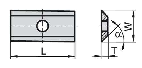 2 Sided Knife | 15mm x 12mm x 1.5mm | 1 Box - 10 pieces per box