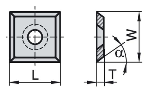 4 Sided Knife | 12mm x 12mm x 1.5mm | 1 Box - 10 pieces per box