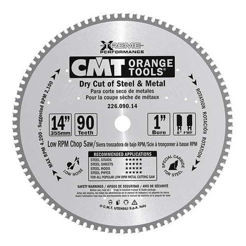 """10"""" x 60 tooth Steel Dry Cut Blade"""