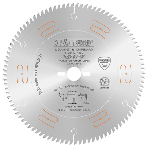 """10"""" x 80 tooth Xtreme Laminated and Chipboard Circular Saw Blade"""