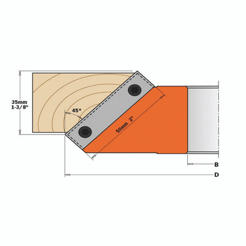 CMT 45 Degree Chamfer Cutter Head