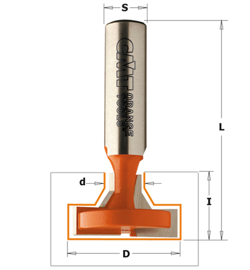 "T-Slot Router Bit SD1/2"" x LD1-3/8"" x 7/8"""