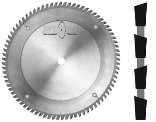 "12"" diameter x 1"" bore x .092"" kerf x 80 tooth x Alternate top bevel grind"