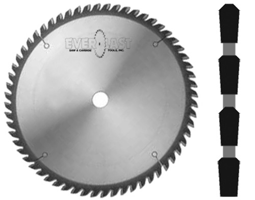 "12"" diameter x 1"" bore x .119"" kerf x 80 tooth x TC45 Triple chip grind"