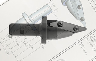 Custom Manufactured Insert Knife V-Groove Profile Router Tool: