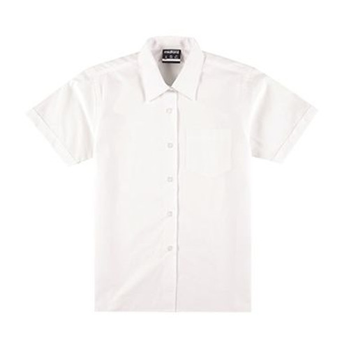 Midford Girls Short Sleeve Blouse 5036 available in white