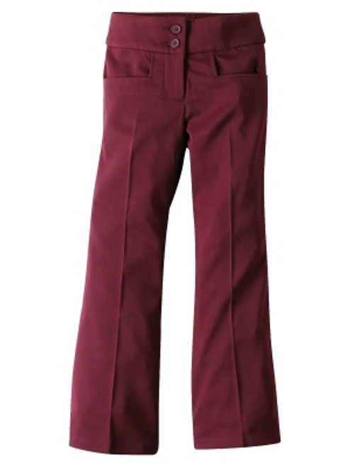 Midford Bootleg Girls Maroon Winter School Uniform Trousers