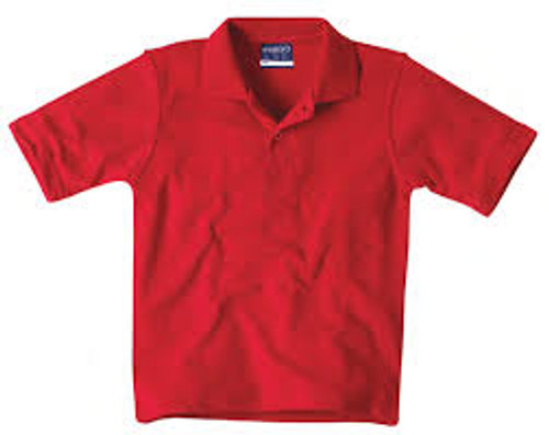 Midford School Uniform Polo Shirt  Short Sleeve Red