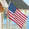 6' TANGLE FREE FLAG POLE SET W/ US FLAG & BRACKET