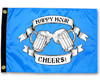 "CHEERS BEER MUGS ELECTRIC BLUE 12X18"" BOAT FLAG"